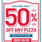 Domino's: 50% off ANY Pizza!