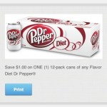 *HOT* Diet Dr. Pepper 12 Packs Only $2.33 with New Coupon!