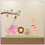 *HOT* Elephant, Lion, Giraffe and Monkey Jungle Animal Decal Wall Art Stickers Only $4.69 + FREE Shipping!