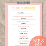 """FREE """"Me & My Mom"""" Mother's Day Gift Printable"""