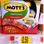 Buy 1 Get 1 FREE Mott's Snack & Go 4-Pack Applesauce Coupon = Only $1.25 at Walmart!