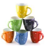 Amazon: *HOT* Highly Rated Set Of 6 Large Polka-Dot Coffee Mugs Only $14.97 (Reg. $59.95)!