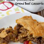 """""""Philly Cheesesteak"""" Ground Beef Casserole"""