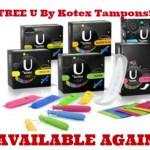 FREE U By Kotex Sample Pack!