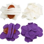 2 Pairs of ADORABLE Wrap Flower Sandals Purple & White Only $4.99 + FREE shipping!