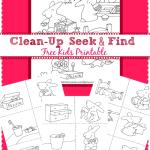 FREE Clean Up, Clean Up Printable Set