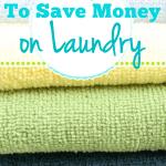 4 Ways To Save Money On Laundry