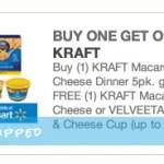 Buy 1 KRAFT Macaroni & Cheese Dinner 5pk, Get 1 FREE Coupon!