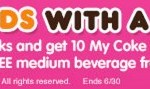 10 FREE My Coke Rewards and a FREE Medium Beverage from Dunkin Donuts (FIRST 25,000!)