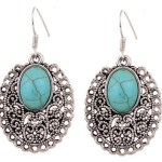Amazon: Silver Oval and Turquoise Drop Dangle Earrings Only $3.62 + FREE Shipping!