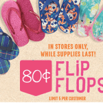 The Children's Place: Flip Flops Only $0.80!
