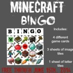 FREE Printable Minecraft Bingo