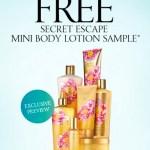 *HOT* Victoria's Secret: FREE Secret Escape Mini Body Lotion Sample