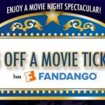 FREE $5 off Fandango Movie Ticket!