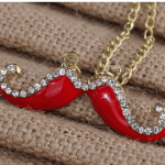 Amazon: Vintage Cute Crystal Inlay Mustache Necklace Only $3.28 Shipped (Reg. $17.40)