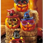 Set of 4 LED Color-changing Halloween Pumpkins Only $12.88 (Reg. $40!)
