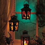 Amazon: Set of 3 Spooky Halloween Black Lantern w/ LED Battery Operated Tealight Candle Only $28.48 Shipped