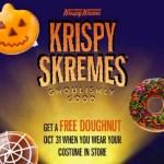 Krispy Kreme: FREE Donuts on Halloween!