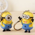 2-pack of Despicable Me Minion Toy Rubber KeyChain figures ONLY $4.28 + FREE Shipping!