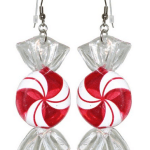 Amazon: 2 1/4″ Christmas Xmas Candy Earrings, in Red with Silver Finish Only $8.99 (Reg. $25)