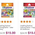 LeapFrog Explorer Learning Games (all kinds of different ones) ONLY $15.00 (Reg. $24.99)!