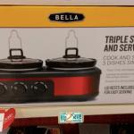 Bella Triple Slow Cooker Only $21.60 (Reg. $39.99) at Target