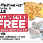 Pee Wee Pillow Pets Only $2.50 at Dollar General