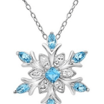 Amazon: Sterling Silver Blue and White Crystal Snowflake with Swarovski Elements Necklace Only $39.95 Shipped (Reg. $149)