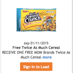 Kroger & Affiliates: FREE Twice As Much Bag of Cereal (Load eCoupon Today)