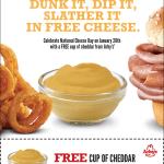 Arby's: FREE Cup of Cheddar!