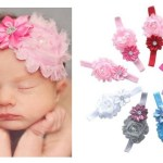 9 Piece Baby Girls Cute Flower Headband Hair bows Only $4.99 + FREE Shipping!