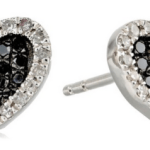 Amazon: Sterling Silver 1/3Cttw Black and White Diamond Heart Stud Earrings Only $49.99 Shipped (Reg. $225)