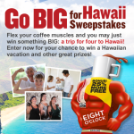 Win a Trip for 4 to Hawaii (+ 100 Win Two Bags of Coffee) with the Eight O'Clock Coffee Sweepstakes
