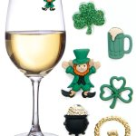 Amazon: St. Patricks Day Magnetic Wine Charms & Markers for Making Glasses Unique Only $15.97