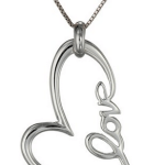 "Amazon: Sterling Silver ""Love"" Heart Pendant Necklace Only $21.14 (Reg. $75)"
