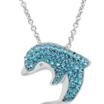 Amazon: Sterling Silver Blue Crystal Dolphin Pendant Only $29.99 (Reg. $99)