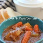 Crock Pot Rustic Beef Stew