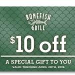 FREE $10 Bonefish Grill Gift Card!
