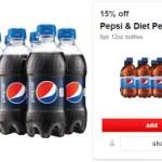 Target: 15% Off Pepsi 8-Pack Bottles Cartwheel Offer + $5 Off Purchase Coupon!