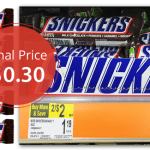 Snickers Candy Bars ONLY $0.30!