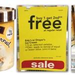 Dryer's or Edy's Ice Cream Tubs ONLY$1.65 each (Reg. $6.29!)