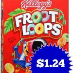Kellogg's Froot Loops Cereal Box ONLY $1.24 + Poptarts ONLY $1.66!