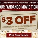 Fandango: $3 off Movie Tickets!