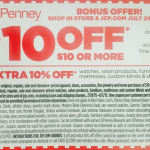 JcPenney: *HOT* $10 off $10 Purchase Coupon = FREEBIES!
