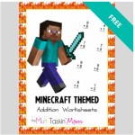 FREE Minecraft Themed Addition Worksheets!