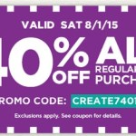 Michael's: 40% off your ENTIRE Purchase Coupon