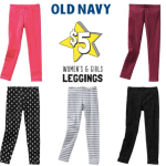 Old Navy: Women and Girls Leggings Only $5 In-Store (Reg. $12.50, Today only) & More