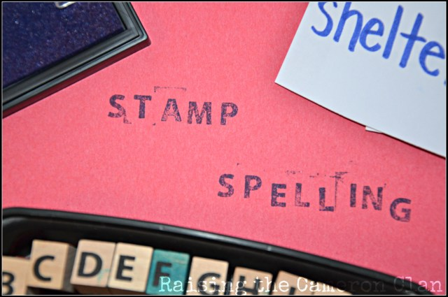 Stamp Spelling