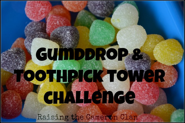 gumdrop & toothpick tower