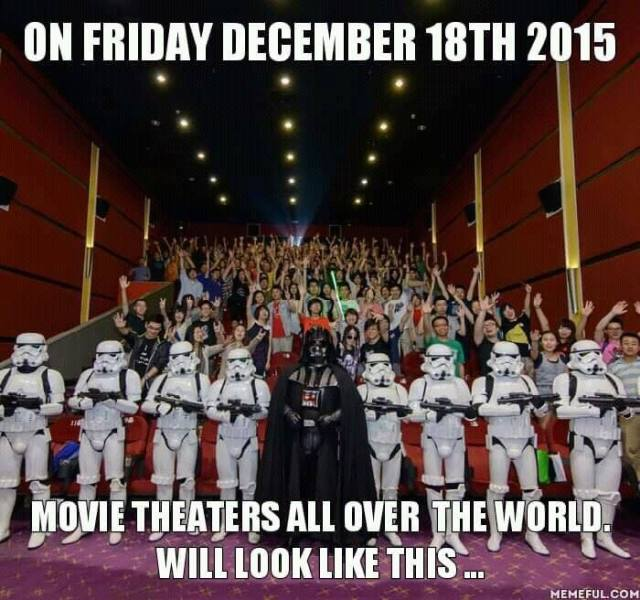 On Friday December 18th 2015 Movie Theaters All Over The World Will Look Like This